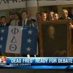 Phi Delts honor Brother Fred Vinson at Centre College during VP Debate